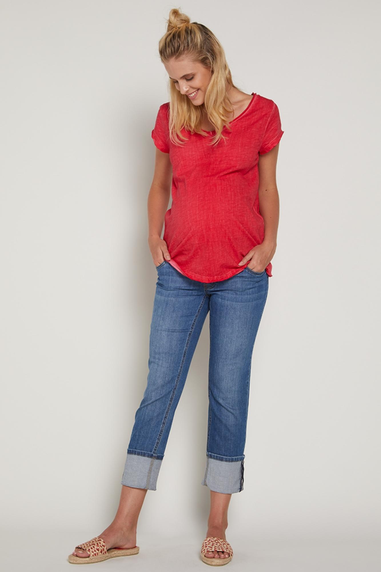 Джинсы для беременных (REGULAR) 09385 синий