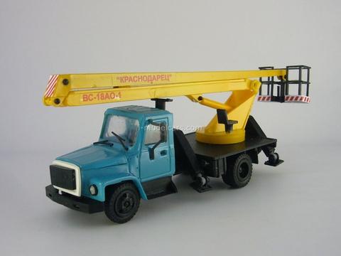 GAZ-3307 VS-18 Lift blue-yellow Kompanion 1:43