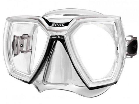Маска seac hero прозрачный силикон белый / черный