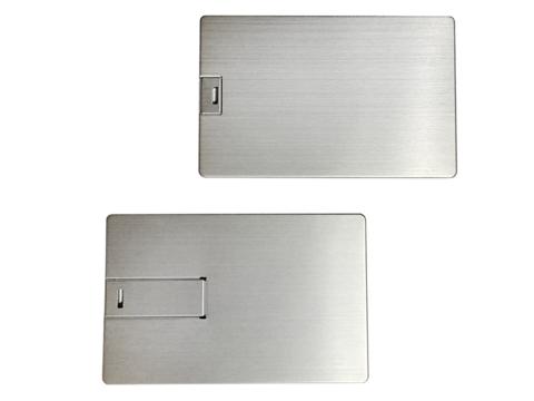 Флешка визитка vip металлическая