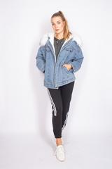 зимняя джинсовая куртка с мехом купить