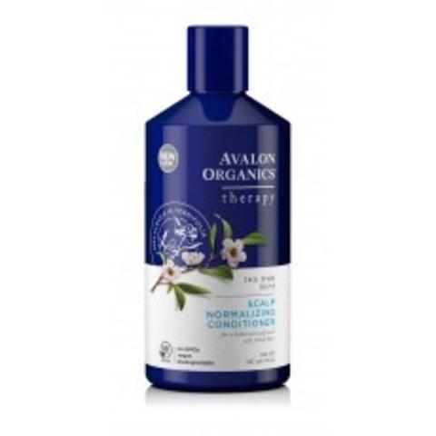 Avalon Organics Therapeutic Conditioner: Нормализующий кондиционер для волос с маслом чайного дерева и мяты (Scalp Normalizing Therapy Tea Tree Mint Conditioner), 397г