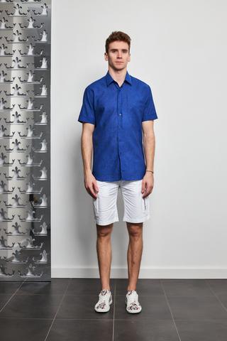 KARL Lagerfeld Рубашка из смеси льна с хлопком