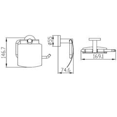 Держатель для туалетной бумаги KAISER Bronze KH-4100 схема