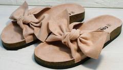 Красивые сандали шлепки на лето женские Comer SAR-15 Pink.
