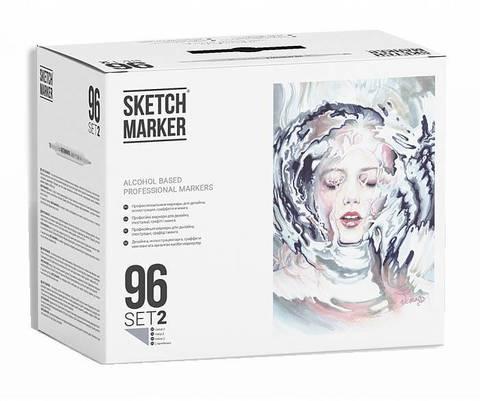 Набор маркеров Sketchmarker 96 шт.
