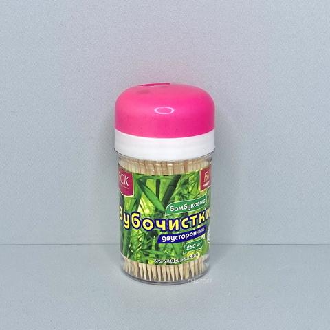 Зубочистки в пластиковой упаковке Блеск (250 шт.)