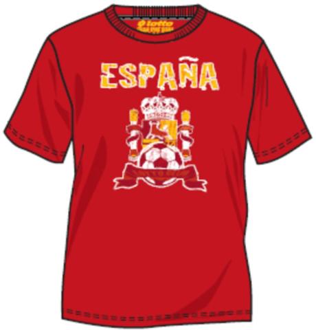 Футболка Lotto с логотипом Испании для Чемпионата мира по футболу