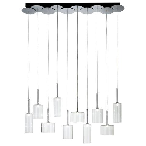 Подвесной светильник копия SP SPILL 10 / Spillray by AXO LIGHT  (прозрачный)