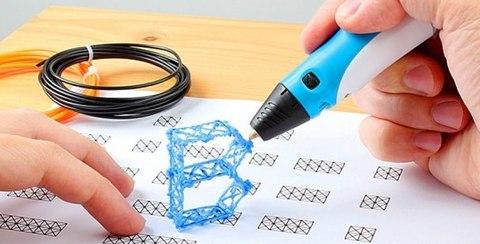 3D ручка 3DPen-2 с LCD дисплеем  розовый