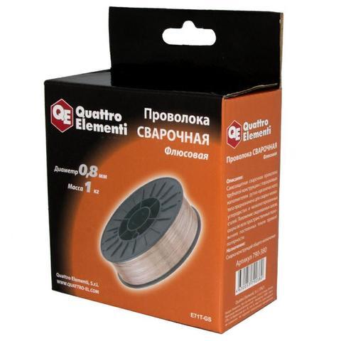 Проволока сварочная QUATTRO ELEMENTI флюсовая, 0,8 мм, масса 1кг (790-380)