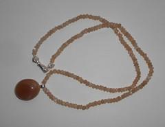 Ожерелье из персикового лунного камня с подвеской, 47,5 см