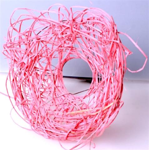 Каркас из ротанга (диаметр: 15 см) Цвет:розовый