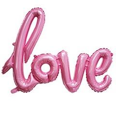 К Надпись, Love, Розовая, 108 см*64 см, 1 шт.