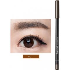 Карандаш для глаз и бровей The Saem Saemmul Wood Eyebrow 01 Brown коричневый 0,2 гр