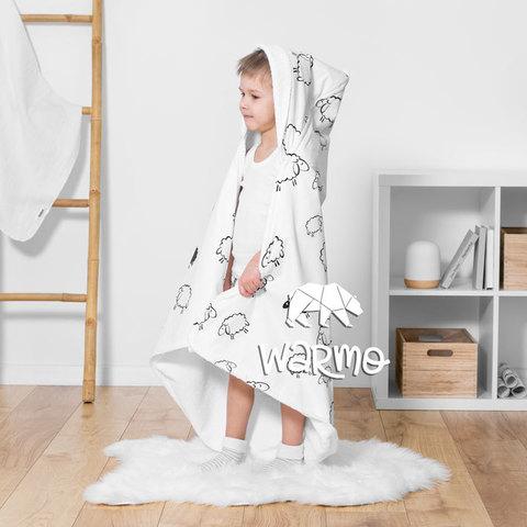 дитячий рушник з капюшоном з овечками фото