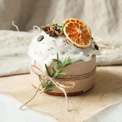 Кулич «Царский» на закваске с апельсином / 300 гр