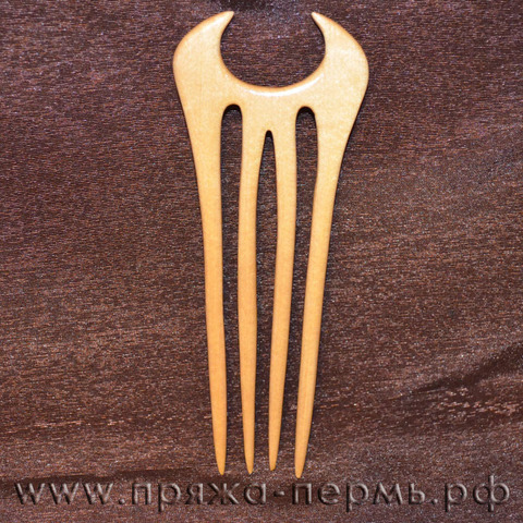 Шпилька для волос или трикотажа Кватро 1, белое дерево