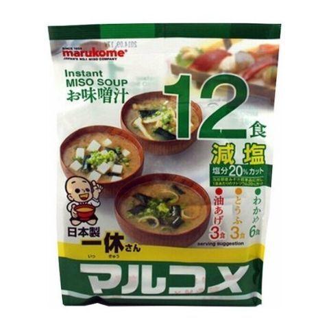 Мисо суп Marukome Organic с пониженным содержанием соли 12 порций, 210 г