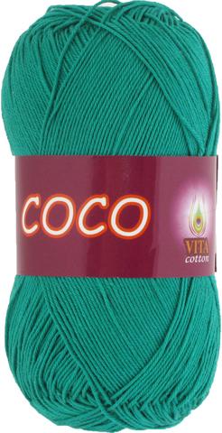 Пряжа Vita Coco 4310 зеленая бирюза