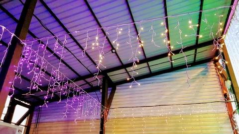 Бахрома светодиодная уличная 3*0,7м 600LED тепл/бел