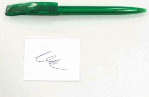 Ручка шариковая (45-19-18) зелен. под лого/100