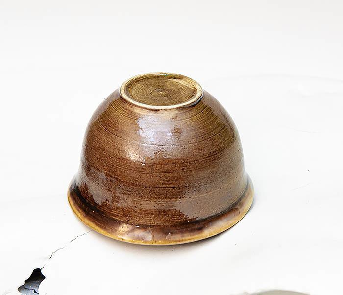 CUP103-2 Пиала керамическая в коричневой глазури фото 03