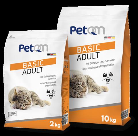 PetQM Basic Adult: С курицей и овощами для кошек 10 кг.