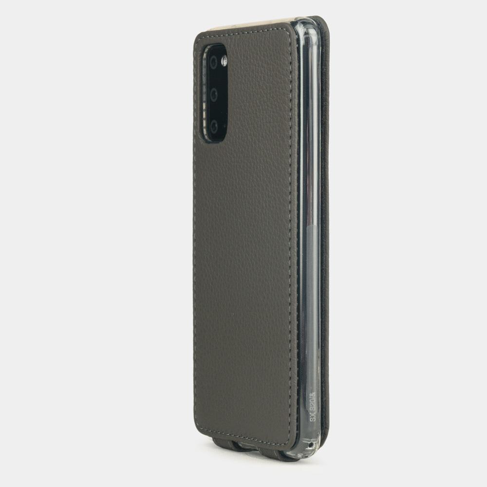 Чехол для Samsung Galaxy S20 из натуральной кожи теленка, серого цвета