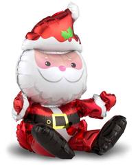 Шар (20''/51 см) Фигура, Санта Клаус, 1 шт.