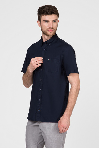 Мужская темно-синяя рубашка STRETCH POPLIN Tommy Hilfiger