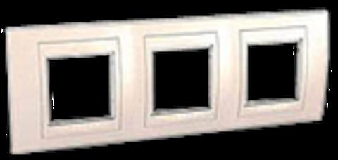 Рамка на 3 поста. Цвет Бежевый. Schneider electric Unica Хамелеон. MGU6.006.25