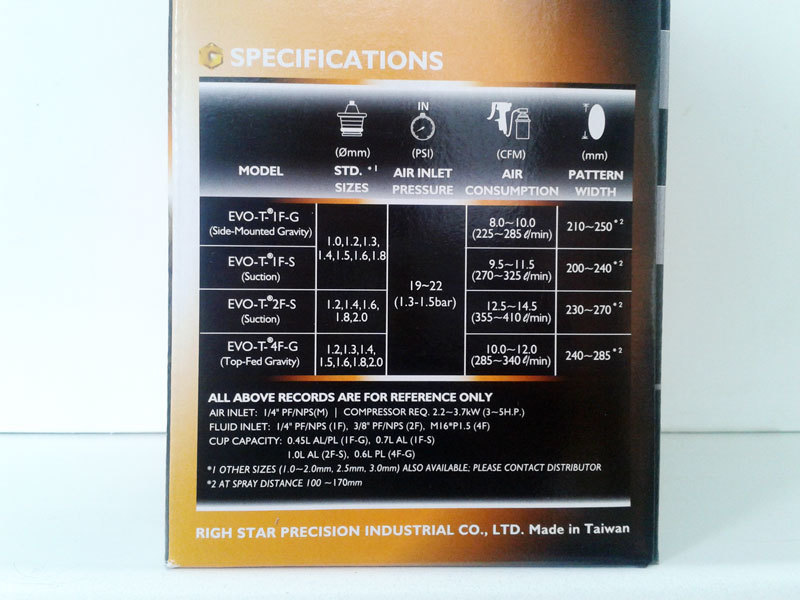 характеристики STAR EVO-T 4F