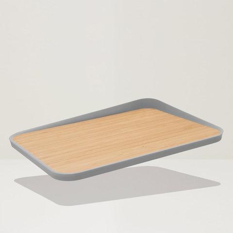 Доска разделочная бамбуковая (с углом) 41*30,5см Leo