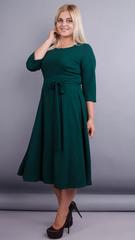Кора. Елегантна сукня плюс сайз. Смарагд.