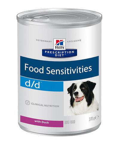 Hill's Диета консервы для собак D/D лечение пищевых аллергий (утка) 370г