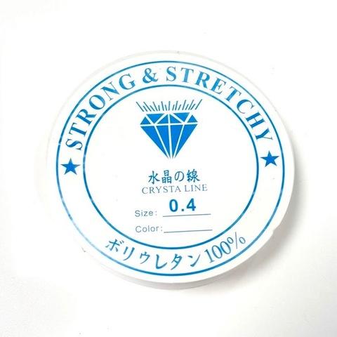 Спандекс прозрачный 0.4 мм - силиконовая нить