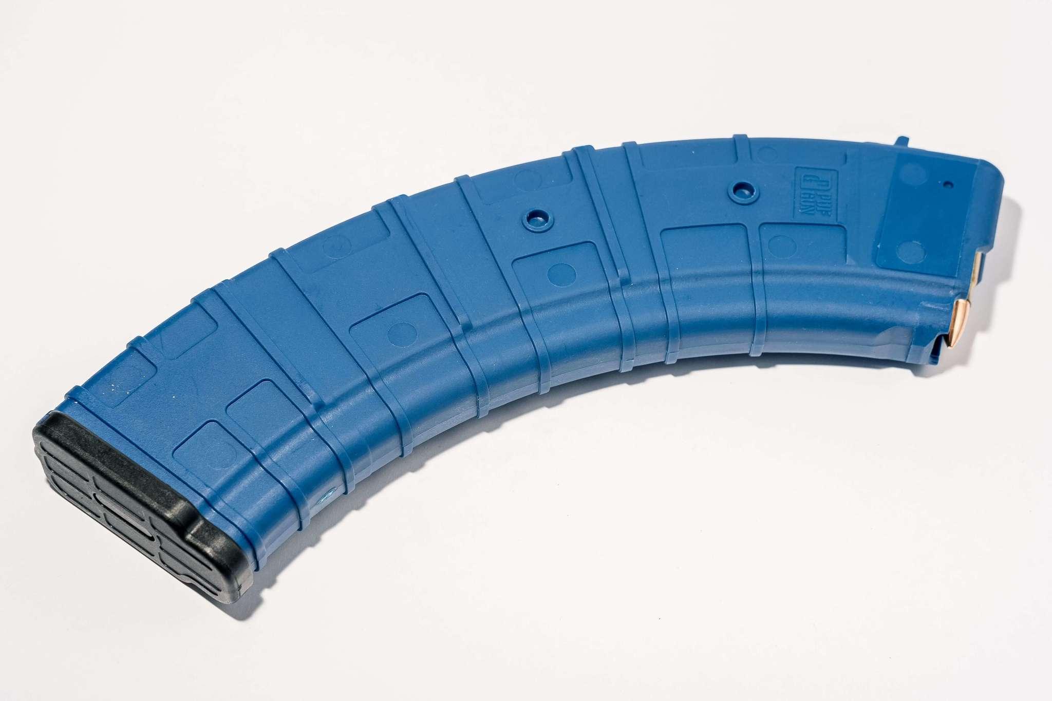 Магазин Pufgun для АКМ 7.62x39 ВПО-136 на 40 патронов, синий