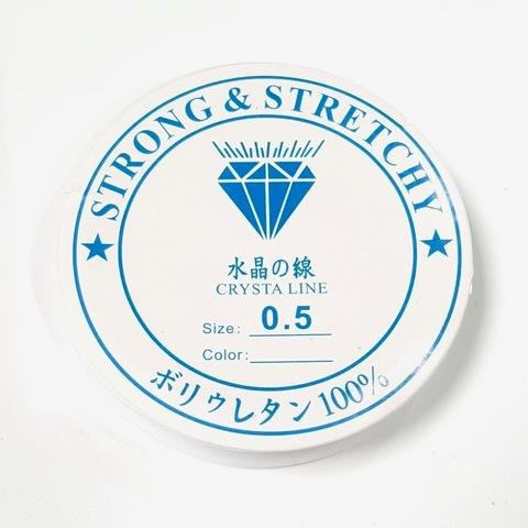 Спандекс прозрачный 0,5 мм - силиконовая нить