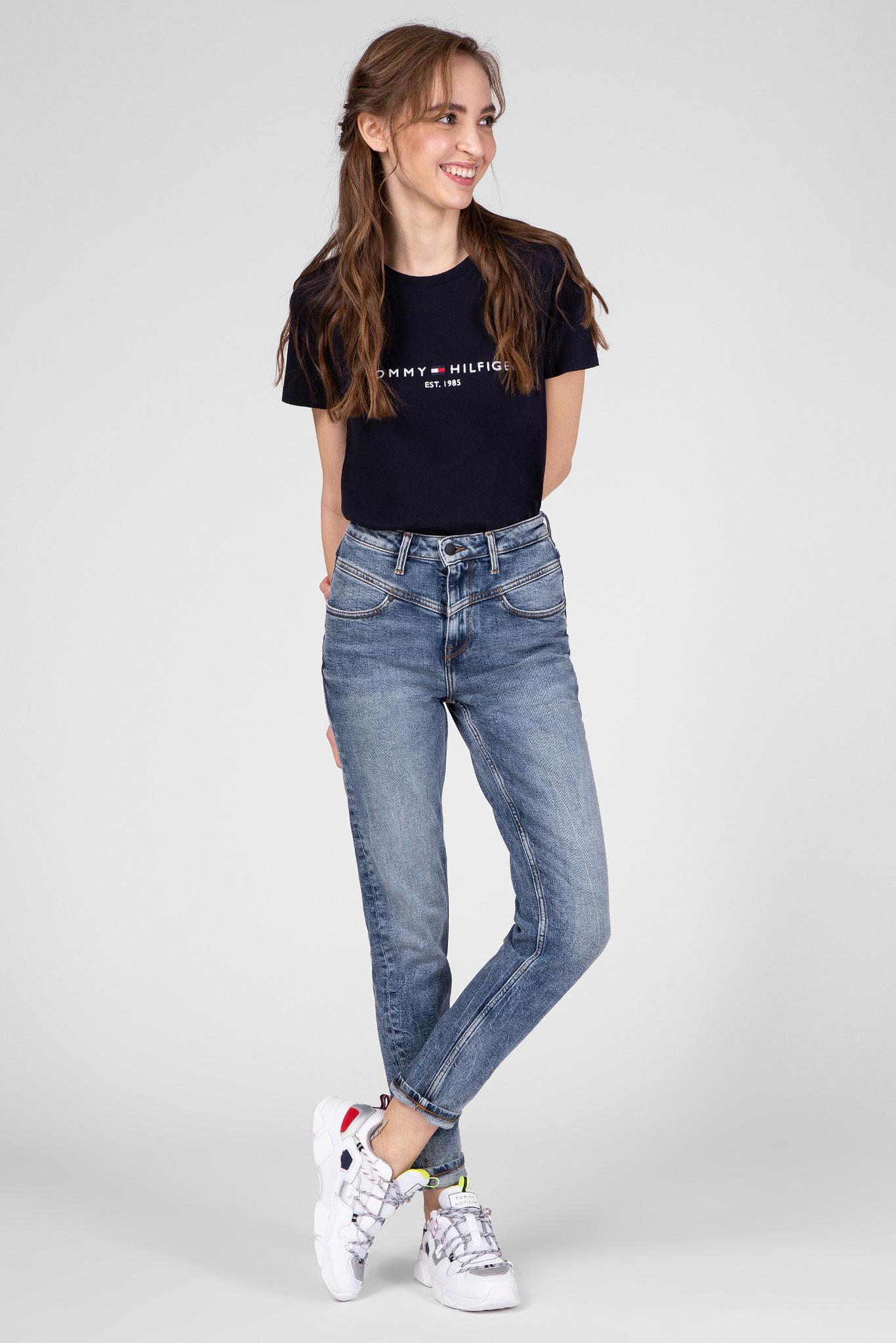 Женская темно-синяя футболка NEW TH ESS Tommy Hilfiger