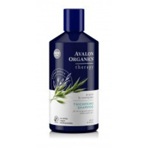 Avalon Organics Therapeutic Shampoo: Шампунь для волос с комплексом биотина (Biotin B-Complex Thickening Shampoo), 414мл