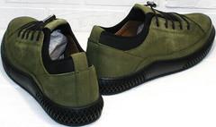 Демисезонные туфли кроссовки casual Luciano Bellini C2801 Nb Khaki.