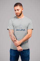 Мужская футболка с принтом Акура (Acura) серая 001