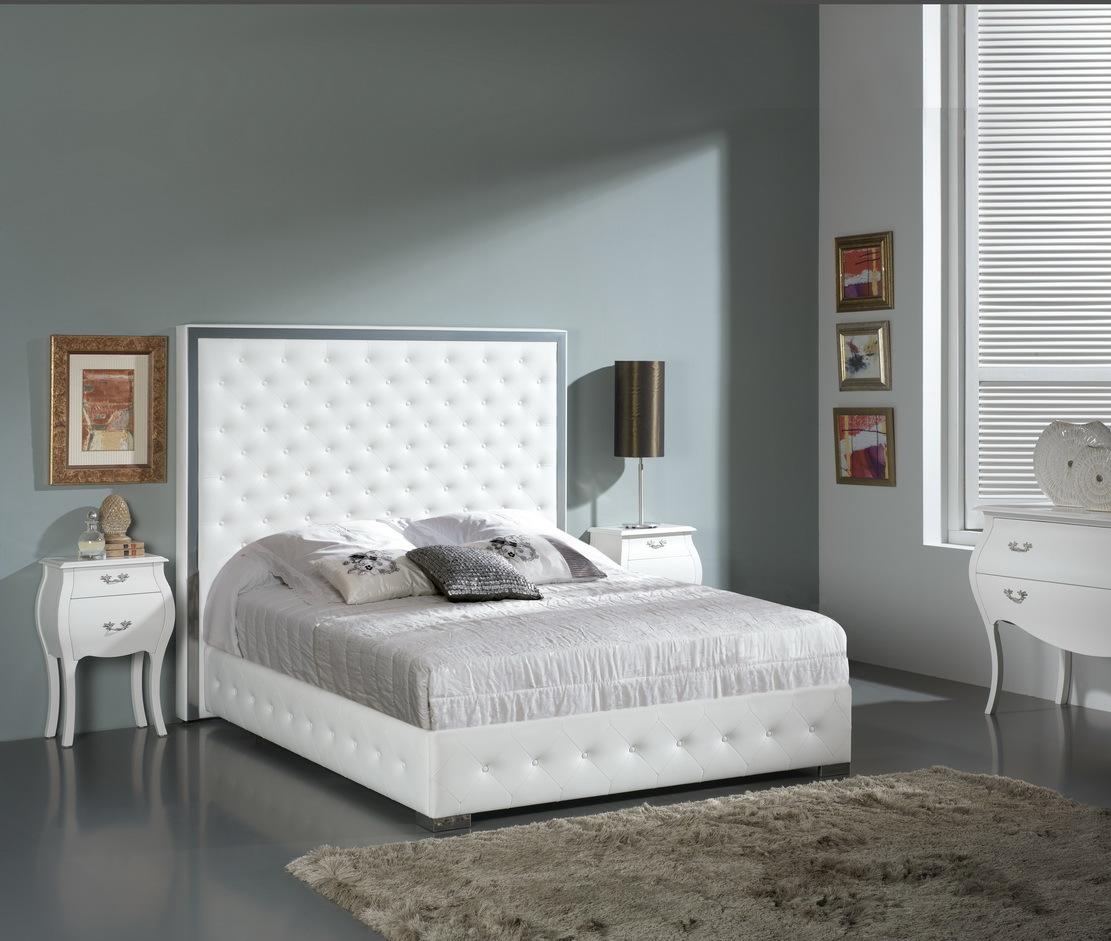 Кровать DUPEN VALERIA, Тумба прикроватная DUPEN (Дюпен) М-93 белая