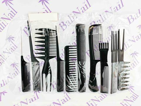 Набор профессиональных полипропиленовых расчёсок 10 шт Эконом