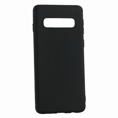 Чехол-накладка силиконовый Innovation Matt 0.6mm для Samsung Galaxy S10 Черный