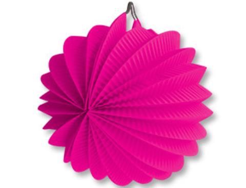 1412-0081 Фонарик бум круглый ярко-розовый 25см/G