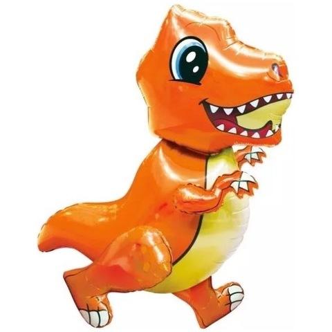 Фигура Динозавр тиранозавр оранжевый, 76 см