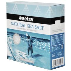 Setra Соль морская натуральная, 500г
