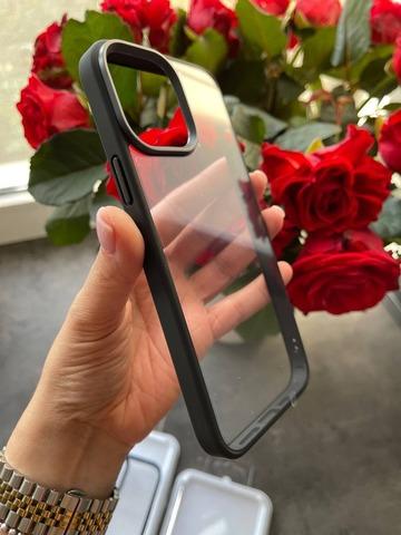 Чехол iPhone 13 Pro Max Rock Guard Series Clear /black/